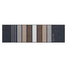 Fußmatte Salonloewe Block Strips Grey 60 cm x 180 cm