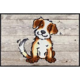 Fußmatte Dog on Wood