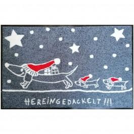 Fußmatte Hereingedackelt Weihnachten