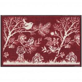 Fußmatte Winterlandschaft rot