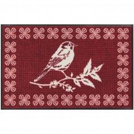 Fußmatte Wintervogel rot