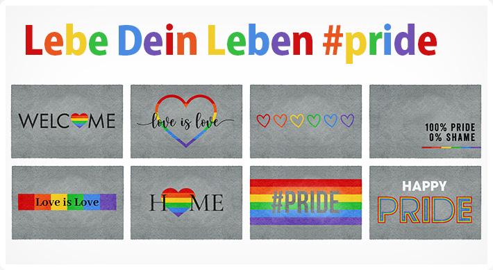 Fußmatten von Melli Mello - Farbexplosion auf der Fußmatte
